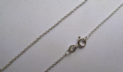 18 Inch 41 cm 1.27 mm Sterling Silver Trace Chain